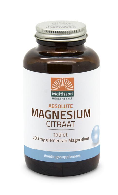 Absolute magnesium citraat 200 mg